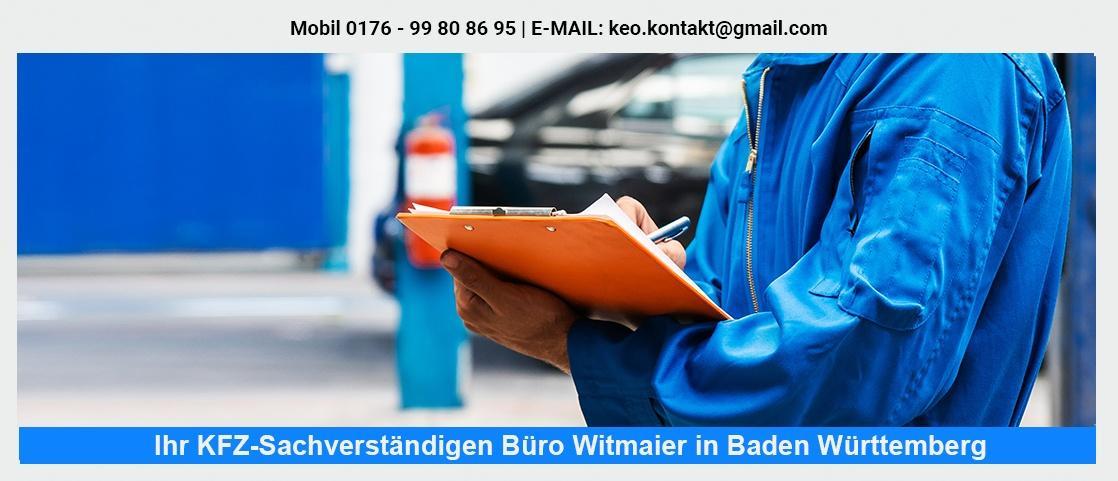 KFZ Gutachter bei Eberdingen - Fahrzeug-Sachverständigenbüro Witmaier: Unfallgutachten, LKW Sachverständiger, KFZ Kaufberatung